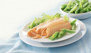 рыба и овощи на пару