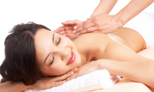 Процедура массажа спины