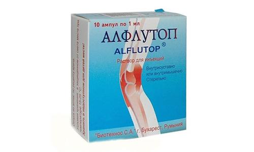 Алфлутоп нормализует обменные процессы в хрящевых тканях, восполняют дефицит полезных веществ