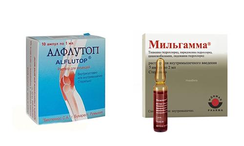 Курс лечения заболеваний опорно-двигательной системы часто дополняют Мильгаммой и Алфлутопом
