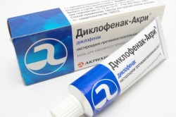 Мазь Диклофенак от остеохондроза
