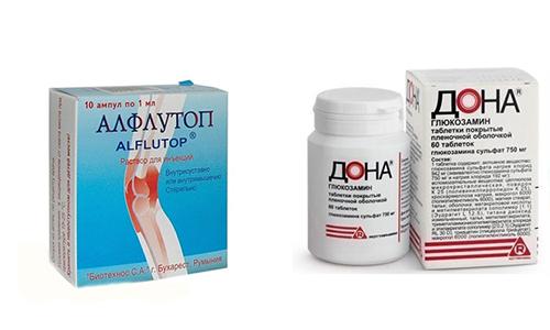 Предотвратить быстрое изнашивание хрящевой ткани способны препараты Дона или Алфлутоп