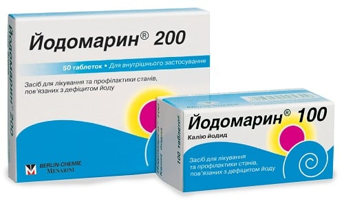 Женщинам с патологией щитовидной железы врачи назначают прием Йодомарина (калия йодида) для восполнения содержания йода в организме