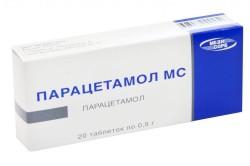 Прием парацетамола начальных стадиях развития заболевания