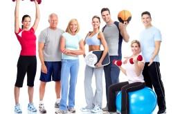 Занятие лечебной физкультурой