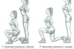 Два вида упражнения - выпады
