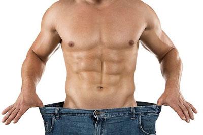 Мужчина теряет вес