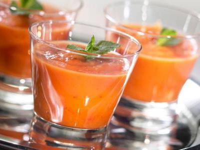 стакан с тыквенним соком