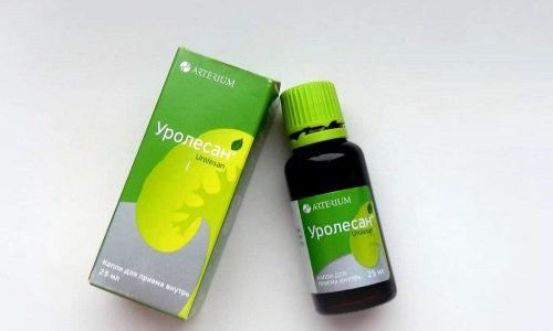 Чтобы ослабить симптомы, больной может принять уросептик (Уролесан)