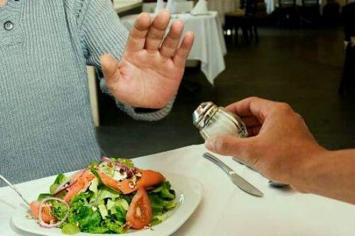употребление меньше соли